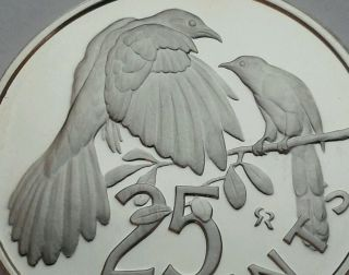 British Virgin Islands 25 Cents 1974.  Proof.  Km 4.  Quarter Coin.  Cuckoo.  Birds. photo