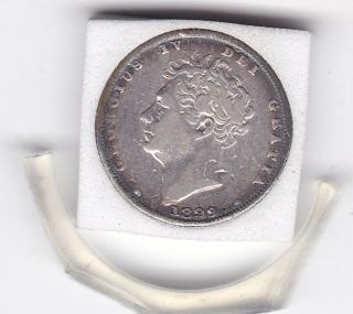 1829 King George Iv Sixpence (6d) Sterling Silver British Coin photo