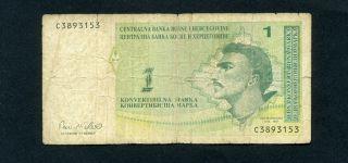 Bosnia 1 Convertible Marka N/d (1998) P - 59 F Circulated Banknote photo