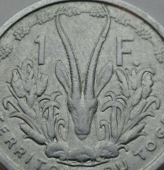 Togo 1 Franc 1948.  Km 4.  One Dollar Coin. photo