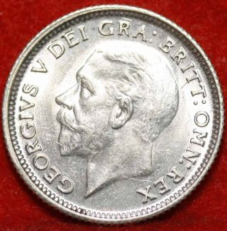 Uncirculated 1926 Great Britain 6 Pence Silver Foreign Coin S/h photo
