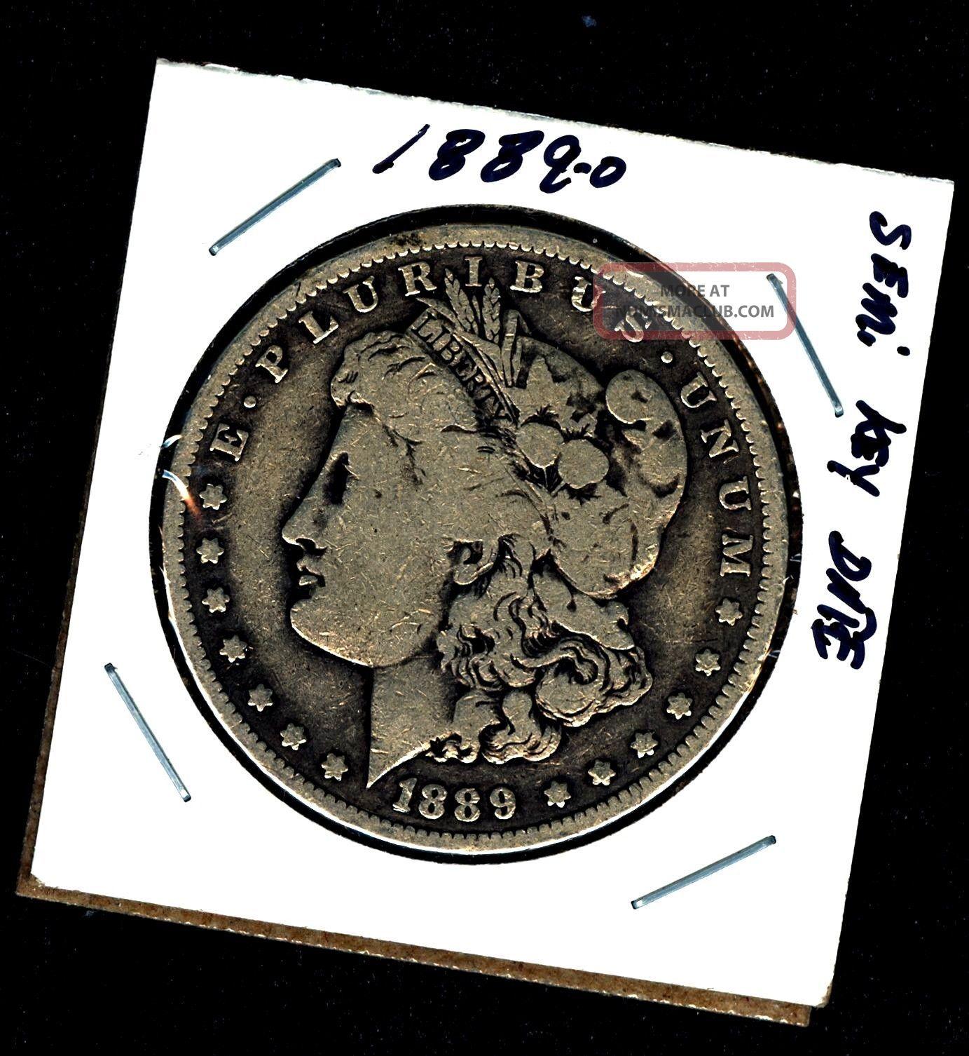 Key 1889 0 Orleans 90 Silver Morgan Dollar U.  S.  358662 Dollars photo
