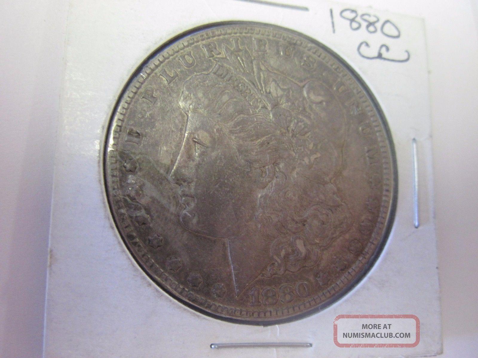 1880 Cc Morgan Silver Dollar Circulated Not Certified Dollars photo
