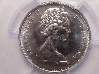 Bu Gem 1965 (small Beads) Canadian Five - Cent Nickel.  Pcgs Ms65.  Canada.  8 photo