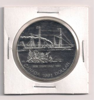 1991 Canada Silver Proof Dollar - 1816 Frontenac 1991 photo