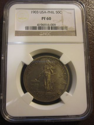 1903 Us/philippines 50 Centavos Proof Pcgs Pr60 Rare - Only 2558 Minted photo