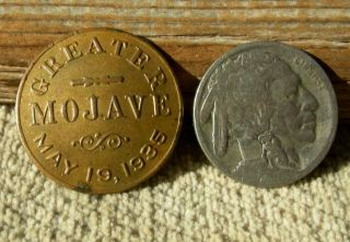 Ca 1935 Mojave Desert California Tropico - Soledad Mtn Rare Gold Rush Days Badge photo