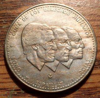 1984 Dominican Republic 1/2 Peso Human Rights Coin - Mexico City - Au, photo