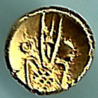 Dutch - Narsimha Pulicat - Gold Fanam - Rarest Variety Small Gold Coin photo