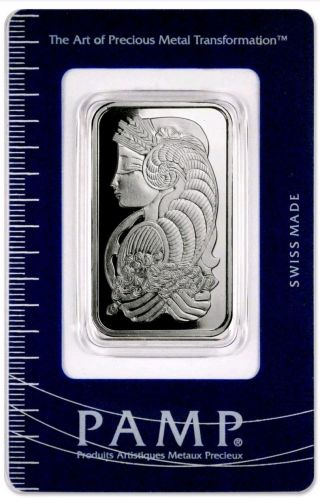 1 Oz Palladium Bar W/ Assay Certificate Pamp Rarer Than Platinum photo
