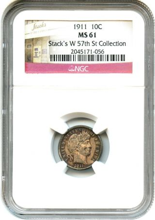 1911 10c Ngc Ms61 - Barber Dime photo