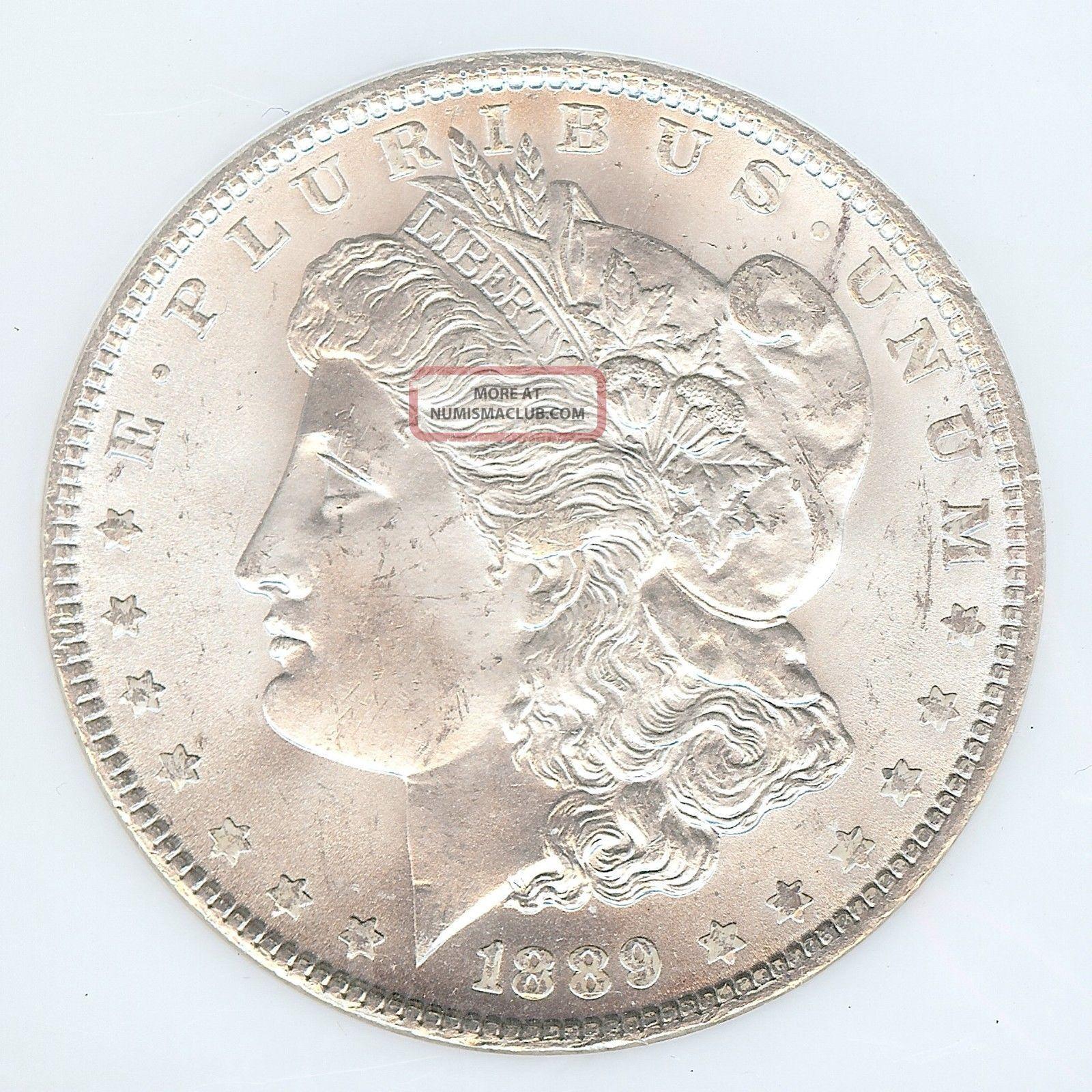$405 Value 1889 - P Morgan Silver Dollar,  Ngc Ms - 65 Dollars photo