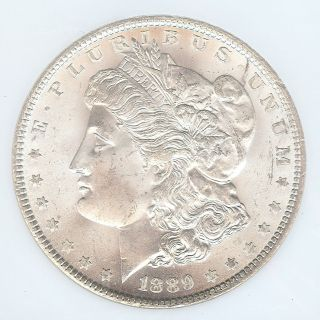 $405 Value 1889 - P Morgan Silver Dollar,  Ngc Ms - 65 photo