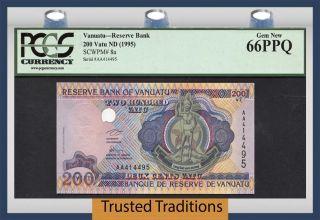 Tt Pk 8a 1995 Vanuatu Reserve Bank 200 Vatu