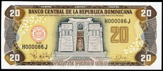 Dominican Republic 20 Pesos Oro 1998 P - 154b Unc Uncirculated Banknote photo