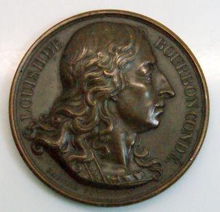 Rare Louis Ii De Bourbon - Conde ' Commemorative Bronze Medal photo