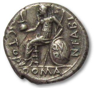 Ar Denarius N.  Fabius Pictor,  Rome 126 B.  C. photo