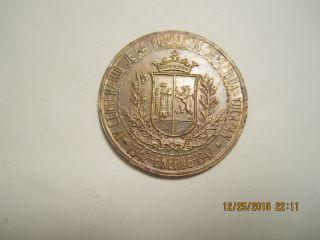 Yucatan,  Mexico Medal Demerida Annivarsary 1542/1942 40mm Circulated photo