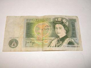 United Kingdom,  British,  Bank Of England One Pound Note - Jb Page,  Isaac Newton photo