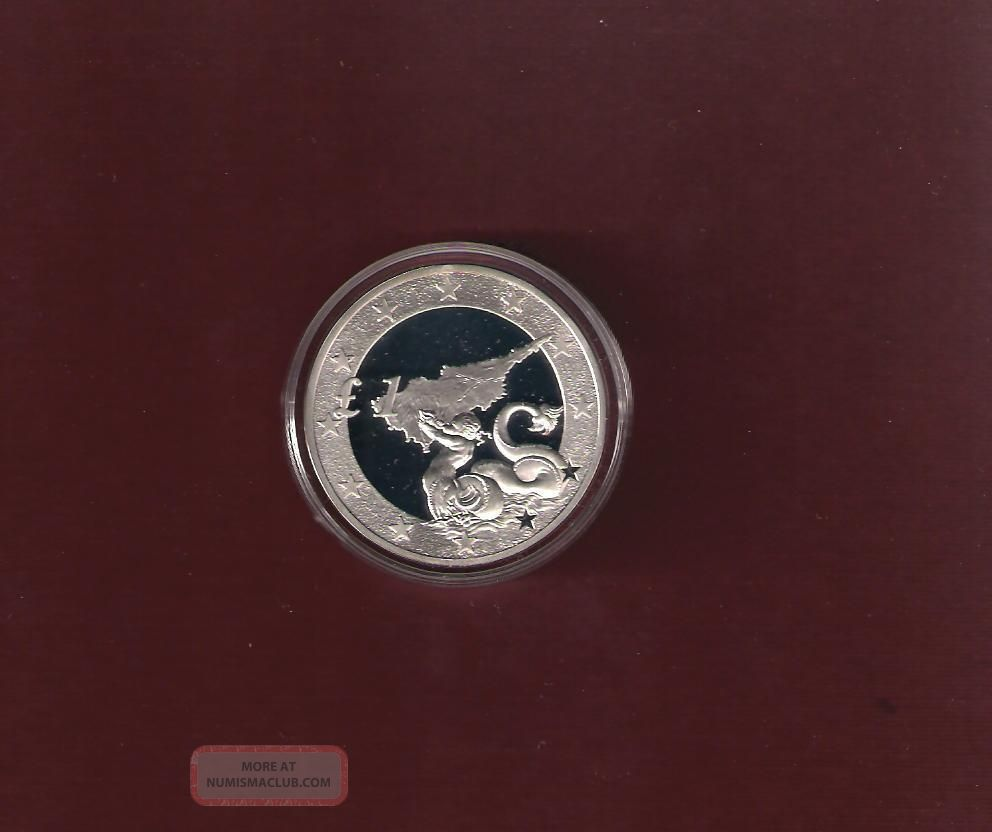 2004 Chypre Zypern Accession Cyprus To Eu (triton) Proof Coin Coa&official Case Coins: World photo