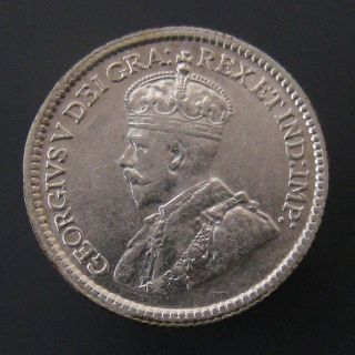 George V Five Cent Silver 1915 photo