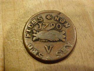 1790 (v / 5 Grani) Copper Cinquina Emmanvel De Rohan Knights Malta Order St John photo