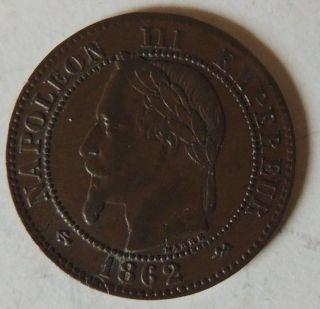France 1862 K 2 Centimes Extra Fine Km - 796.  6 photo