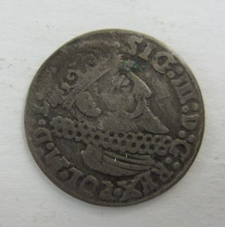 1624 Poland 3 Groshen (trojak) Silver Coin Vasa / Waza Era 55887 photo