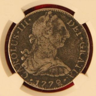 1779 Ff 8 Reales Silver Coin From 1784 El Cazador Revolutionary War Bold photo