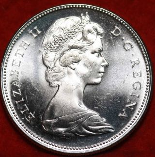 Uncirculated 1967 Silver Canada $1 Dollar Foreign Coin S/h photo