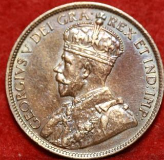 1918 Canada One Cent Foreign Coin S/h photo