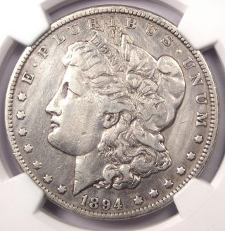 1894 Morgan Silver Dollar $1 - Certified Ngc Vf Details - Rare Key Date 1894 - P photo