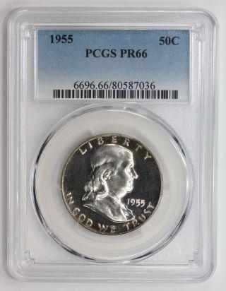 1955 Franklin Half Dollar Pr 66 Pcgs (7036) photo