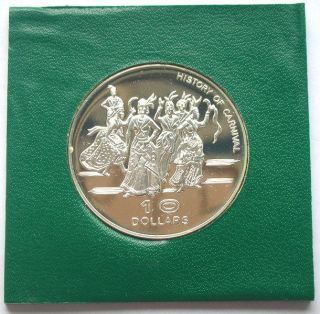 Dominica 1978 Independence 10 Dollar Silver Coin,  Proof photo