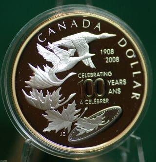 2008 Canada Silver Special Edition Dollar - Royal Canadian Centennial photo