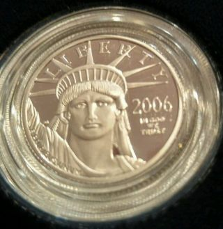 2006 W 1/4 Oz.  Proof Platinum Bullion Coin photo
