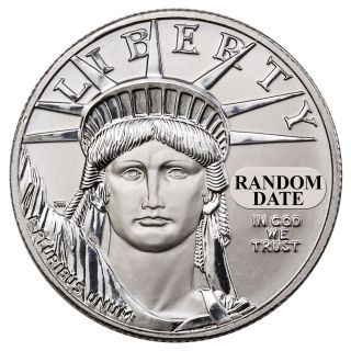 Random Date 1997 - 2015 $50 1/2 Oz Platinum Eagle Uncirculated Coin Sku26160 photo