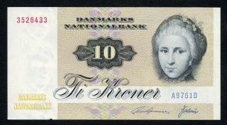 Denmark 10 Kroner 1976 Xf/au photo