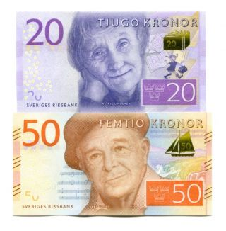 Sweden 20 50 Kronor Nd (2015) P - Unc photo