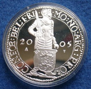 Netherlands Silver Ducat 2005 Proof Km 259 photo