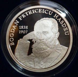 Moldova 2011 Bogdan Petriceicu Hasdeu.  Silver Proof.  Mintage Only 500 Ex. photo