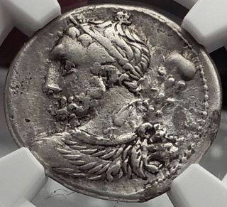 Rome Republic 112bc Hercules Horse Public Games Silver Roman Coin Ngc Vf I58213 photo