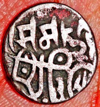 Ancient - Chuhans Of Ajmer & Delhi - Chahada Deva - 1 Jital (1172 - 1191) Rare Zz65 photo