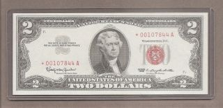 1963 Star - $2 Unc Red Seal Note photo