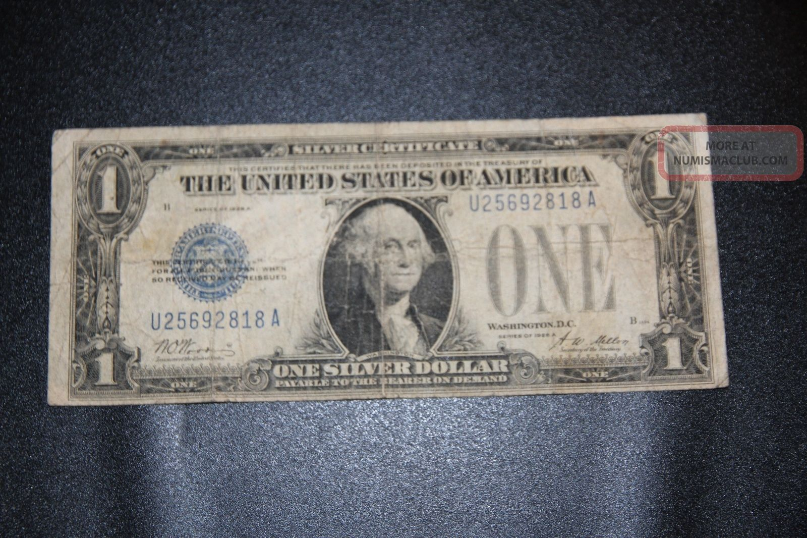 Old Vintage 1928a One Dollar Bill 1 Silver Certificate Funny Back