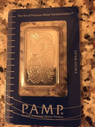 Pamp Suisse 1 Oz Palladium Bar photo