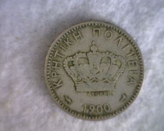Greece Crete 20 Lepta 1900 Very Fine Coin (stock 0045) photo