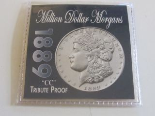 1889 Cc Morgan Tribute Proof Silver Coin photo