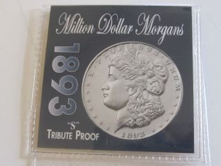 1893 S Morgan Tribute Proof Silver Coin photo