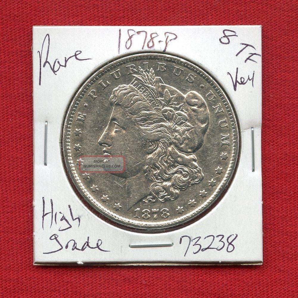 1878 8tf Morgan Silver Dollar 73238 Coin Us Rare Key Date Estate Dollars photo